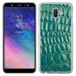 Coque Pour Samsung Galaxy J6 Rigide Motifs Crocodile Vert
