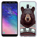 Coque Rigide Pour Samsung Galaxy A6 Plus Motif Animal Hipster Ours