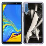 Coque Rigide Pour Samsung Galaxy A7 2018 Motif Danseuse Ballerine