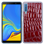 Coque Rigide Pour Samsung Galaxy A7 2018 Motif Crocodile Rouge