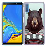 Coque Rigide Pour Samsung Galaxy A7 2018 Motif Animal Hipster Ours