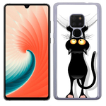 Coque Rigide Pour Huawei Mate 20 Motif Chat Humour