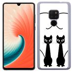 Coque Rigide Pour Huawei Mate 20 Motif Chat Duo Coeur