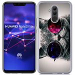 Coque Rigide Pour Huawei Mate 20 Lite Motif Chat Swag Humour