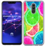 Coque Rigide Pour Huawei Mate 20 Lite Motif Citron Flash Coloré Été