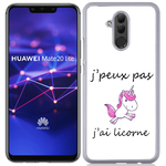 Coque Rigide Pour Huawei Mate 20 Lite Motif J'peux Pas J'ai Licorne
