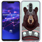 Coque Rigide Pour Huawei Mate 20 Lite Motif Animal Hipster Ours