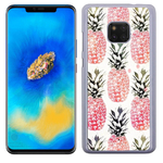 Coque Rigide Pour Huawei Mate 20 Pro Motif Ananas Rose Vintage