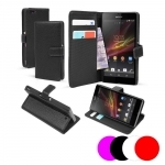 Etui Housse Coque Portefeuille Sony Xperia Z1 Compact
