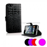 Etui Housse Coque Portefeuille Crocodile Apple Iphone 4 - 4s