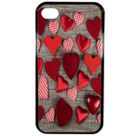 Coque Rigide Coeur Vintage Apple Iphone 4 - 4s