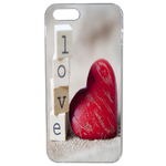 Coque Rigide Pour Apple Iphone 5 - 5s Motif Coeur 2 Amour