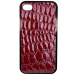 Coque Rigide Pour Apple Iphone 4 - 4s Motif Crocodile Rouge