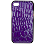 Coque Rigide Pour Apple Iphone 4 - 4s Motif Crocodile Violet