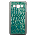Coque Rigide Effet Crocodile Vert Pour Samsung Galaxy A3