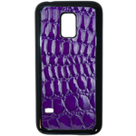 Coque Rigide Pour Samsung Galaxy S5 Mini Motif Crocodile Violet