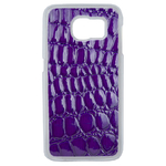 Coque Rigide Effet Crocodile Violet Pour Samsung Galaxy S6