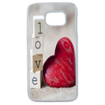 Coque Rigide Coeur Love Samsung Galaxy S6 Edge