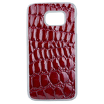 Coque Rigide Pour Samsung Galaxy S6 Edge Motif Crocodile Rouge