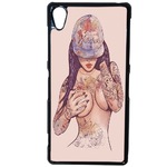 Coque Rigide Girl Tatoo Pour Sony Xperia Xa