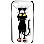 Coque Rigide Pour Apple Iphone 4 - 4s Motif Chat Humour
