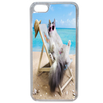 Coque Rigide Pour Apple Iphone 7 Plus Motif Chat Plage Humour