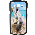 Coque Rigide Pour Samsung Galaxy Grand 2 Motif Chat Plage Humour