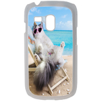 Coque Rigide Pour Samsung Galaxy S3 Mini Motif Chat Plage Humour