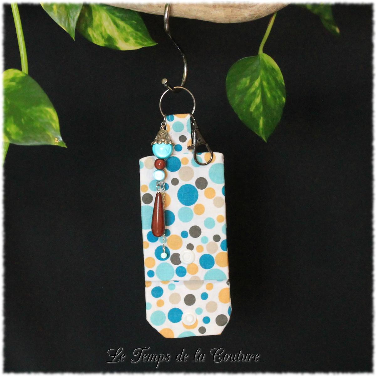 Bijoux de sac multicolore pois