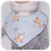 Enfant - bavoir bandana - bleu imp mouton11 - GFC