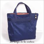 Sac - cabas soufflet - zippé - bleu marine multicolore rouge orange bleu01 - GFC