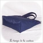 Sac - cabas soufflet - zippé - bleu marine multicolore rouge orange bleu04 - GFC