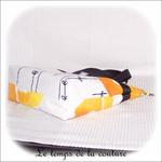 Sac - cabas soufflet - zippé - noir  jaune blanc rond ikea05 - GFC