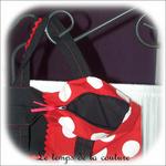 Sac - cabas - zippe - noir et rouge pois blanc02 - GFC