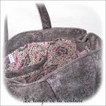 Sac - cabas non zippe - XL - gris simili écru lilas gris04 - GFC