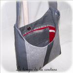 Sac - cabas bandoulière - gris rayure et int rouge04 - GFC
