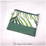 Pochette - droite - zippé - blanc vert feuillage br toucan 05