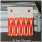 Sdb - pochette savon -  multicolore geometrique 06