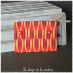 Sdb - pochette savon -  multicolore geometrique 02