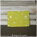 Sdb - pochette savon - vert anis motif etoile 06