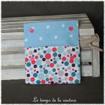 Sdb - pochette savon - bleu turquoise rose motif bulle 03