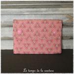 Sdb - pochette savon - rose saumon motif fleur sakura 05