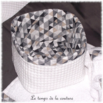 Sdb - corbeille invités - gris taupe triangle nid abeille 03