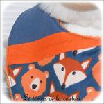 Enfant - bavoir bandana - bleu imp renard dia02 - GFC
