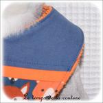 Enfant - bavoir bandana - bleu imp renard hor02 - GFC