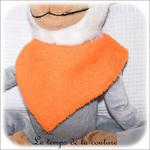 Enfant - bavoir bandana - 0 orange