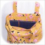 Sac tote bag - orange rose imp danseuse02 - GFC