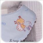 Enfant - bavoir bandana - bleu imp mouton12 - GFC