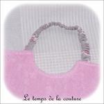 Enfant - bavoir double - rose pale et imp licorne grise03 - GFC