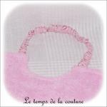 Enfant - bavoir double - rose pale et imp licorne rose03 - GFC
